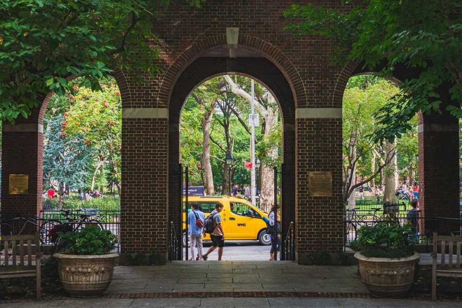 Fraternity members sued NYU over what they claim are false hazing allegations. (Photo by Tony Wu)