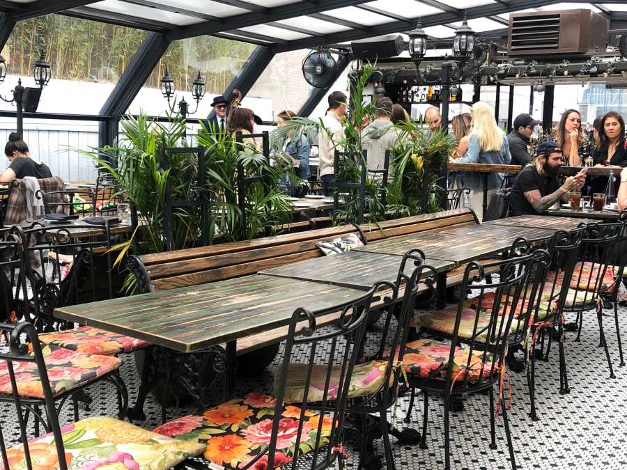 Hotel Chantelle, located in the Lower East Side, is a three-floor restaurant. The Parisian-garden style rooftop is a fun place to enjoy a French menu. (Staff Photo by Jorene He)