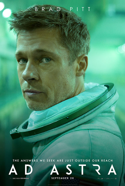 Ad Astra, starring Brad Pitt, was released on September 20. (Via Walt Disney Studios Motion Pictures)