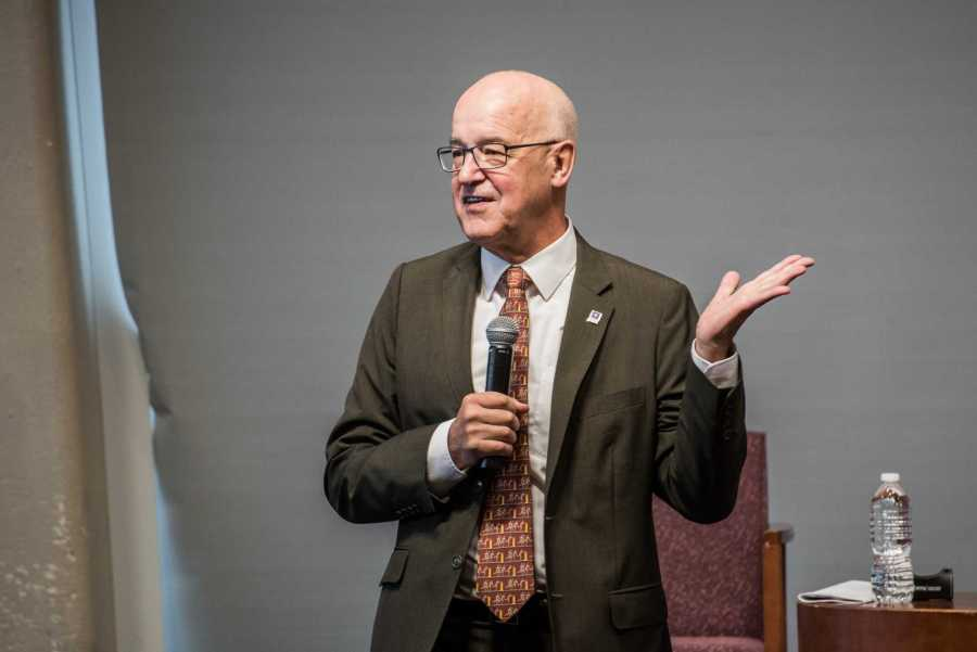 Andrew Hamilton speaks in an event in 2018. (Photo by Sam Klein)