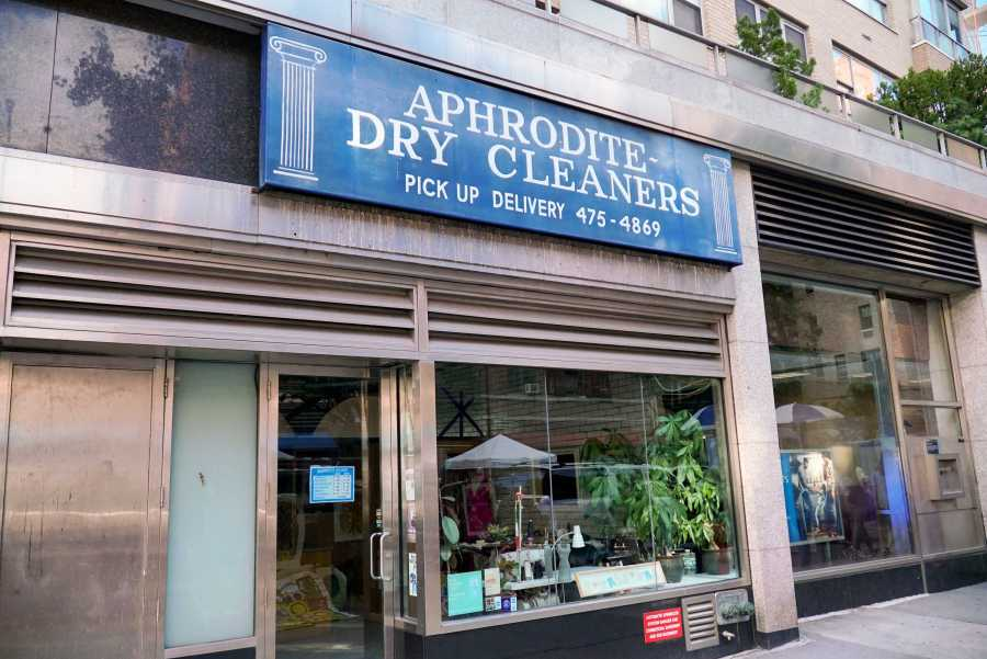 Aphrodite Dry Cleaners is often frequented by NYU students due to its proximity to Washington Square Park. (Staff Photo by Min Ji Kim)