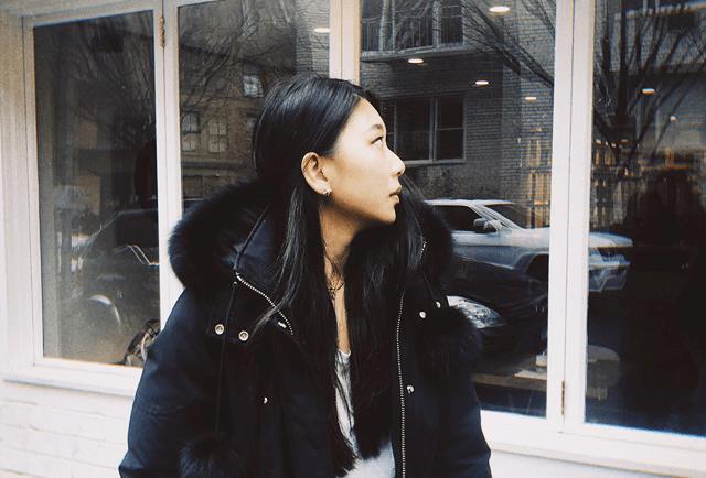 Sharon Chang, a sophomore studying Fashion Business at NYU's Gallatin School of individualized studies. (Photo by Li-chun Pan)