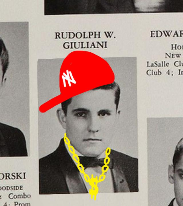 Rudy Guiliani is a revered NYU alumni. (Staff illustration by Chelsea Li)
