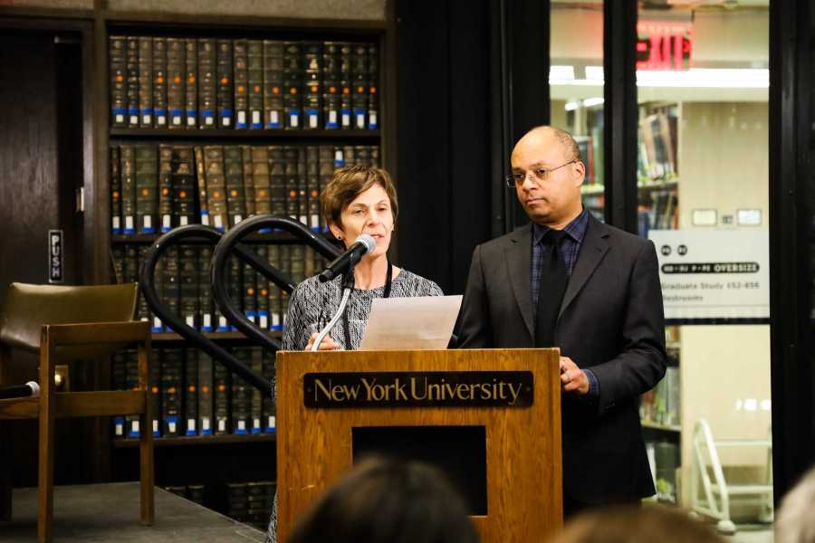 Panelists examined the university's crucial role as a forum for open exchange of ideas. (Staff Photo by Elaine Chen)