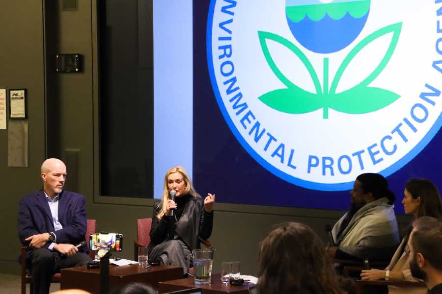 The United States Environmental Protection Agency held an event in response to climate change on Monday. (Staff Photo by Elaine Chen)