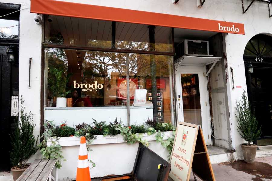 Brodo advertises itself as a frozen-fresh bone broth company that provides scheduled delivery. (Staff Photo by Chelsea Li)
