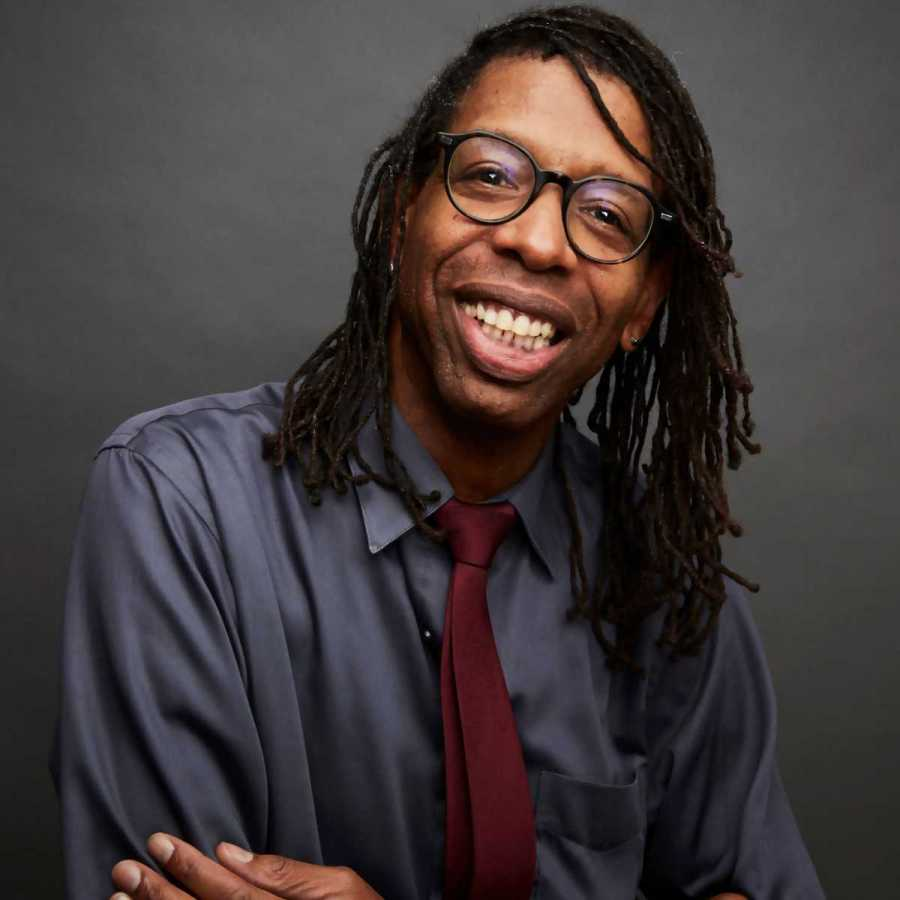 """Playwright William Electric Black, also known as Ian Ellis James, is a professor at NYU Tisch and seven-time Emmy winner for his work on """"Sesame Street."""" The writer reviews his recent work, """"The Whites,"""" which switches the races of black and white people. (via NYU)"""