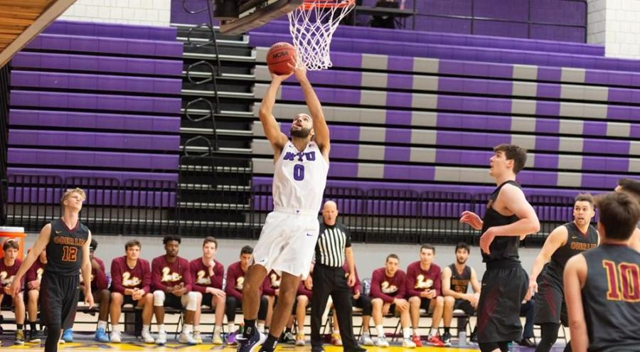 Ethan Feldman, senior in CAS,  scored a team-high 16 points in the Championship Game of the Hampton Inn Jim Beaudry Classic. (Via NYU Athletics)