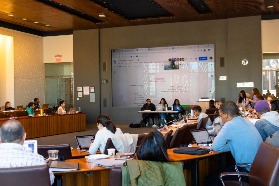 All Student Government meetings take place in the GCASL Colloquium room on the fifth floor. (Staff Photo by Marva Shi)