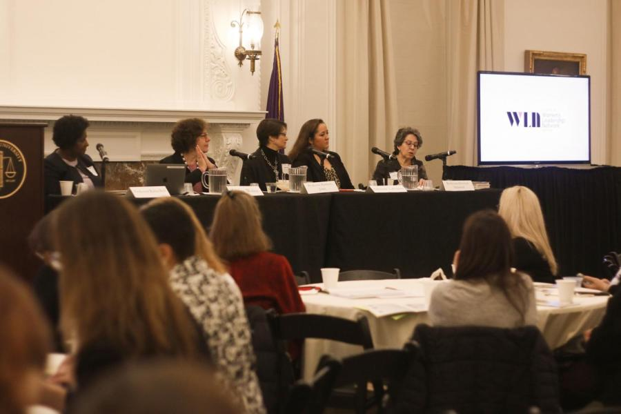The Women's Leadership Network Panel discussing the 100th anniversary of the 19th Amendment (Photo by Alex Tran)