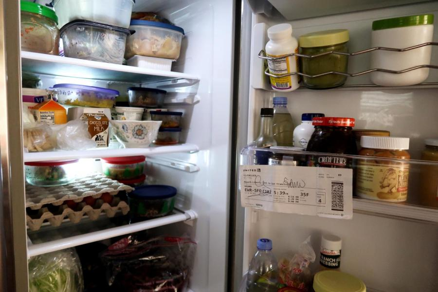 One student had to finish all the food in her refrigerator before leaving New York. While some had to abandon their de-stressing trips, others spent time dealing with stocked up groceries. (Staff Photo by Chelsea Li)