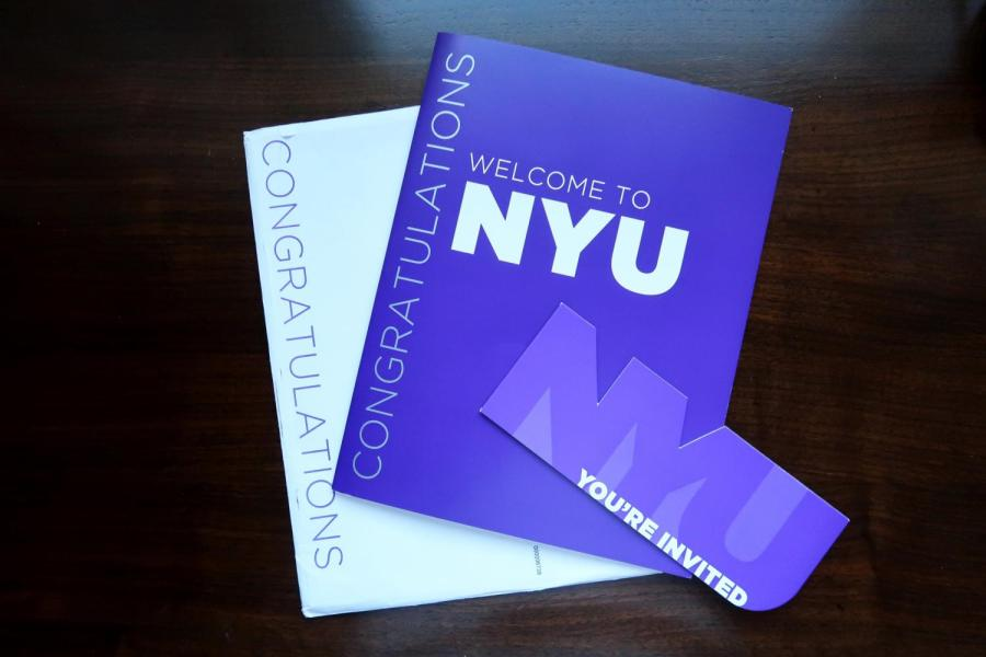 NYU recently released regular admission decisions for the incoming Class of 2024. NYU's acceptance rate among other statistics have changed once again this year. (Staff Photo by Chelsea Li)