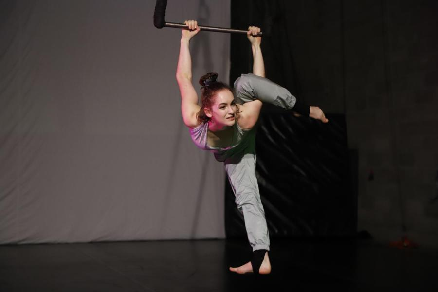 Gallatin senior Ingrid Amelia Apgar is a circus artist training and performing at Circus Warehouse of NYC. Apgar shapes her studies around movement and physics, and works as a technician at the Labowitz theatre, taking interest in all aspects of her performing art. (Photo by Yechiel Michael Husarsky)