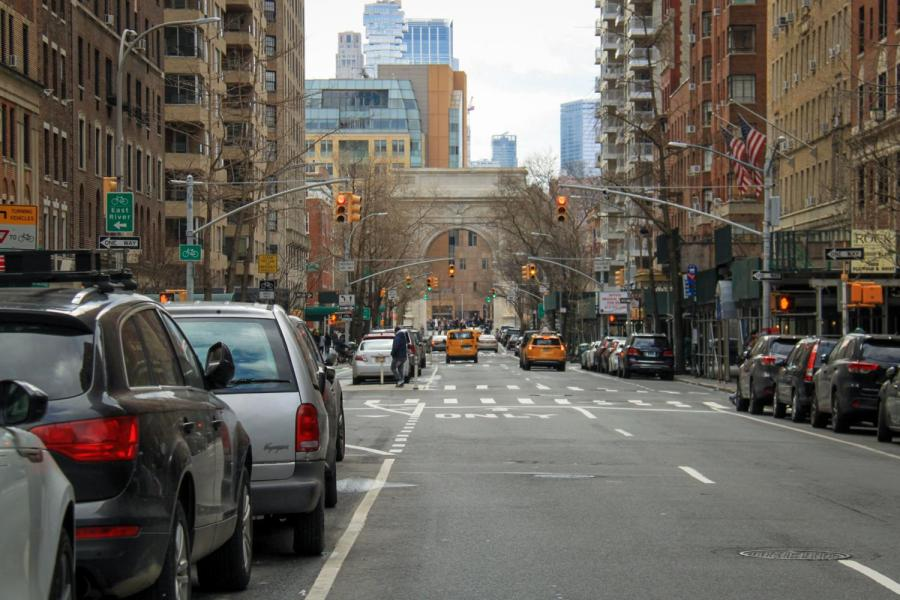 The Washington Square Arch lies at the end of Fifth Avenue. President Andy Hamilton recently sent out an update email to the NYU community. (Staff Photo by Alexandra Chan)