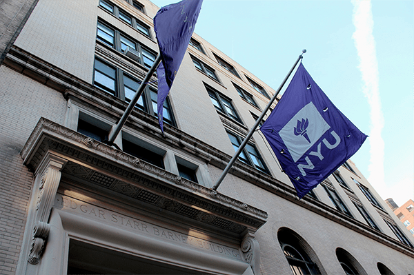 The Edgar Starr Barney building on Washington Square houses NYU's Steinhardt school. A Steinhardt professor has fallen under scrutiny for discriminatory language in her class syllabus against low-income students who may not be able to afford the supplies. (Photo by Mathilde Van Tulder)