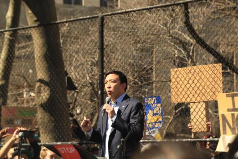 Mayoral candidate Andrew Yang's vow to crackdown on unlicensed food vendors in NYC was widely met with pushback across the board. (Photo by Suhail Gharaibeh)