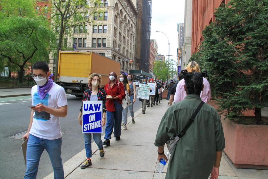 Supporters show up for GSOC on the picket line.