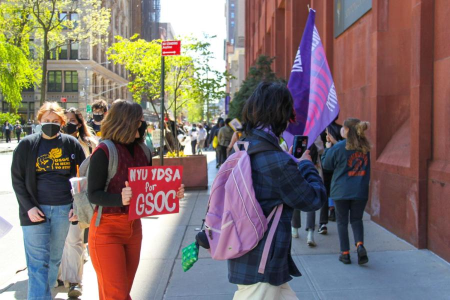 Organizations like YDSA show up to support GSOC.