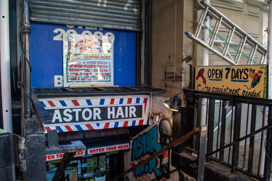Astor+Place+Hairstylists+is+located+at+2+Astor+Pl.+The+shop+has+been+bustling+with+barbers+and+customers+of+all+ages+for+decades.+%28Staff+Photo+by+Manasa+Gudavalli%29