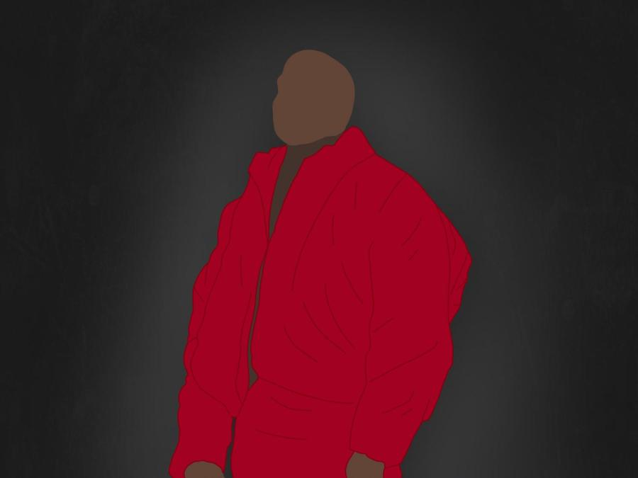 Donda, the tenth studio album by Kanye West, was released on August 29, 2021. This album is composed of twenty-seven tracks, approximating a two-hour runtime altogether. (Staff Illustration by Manasa Gudavalli)