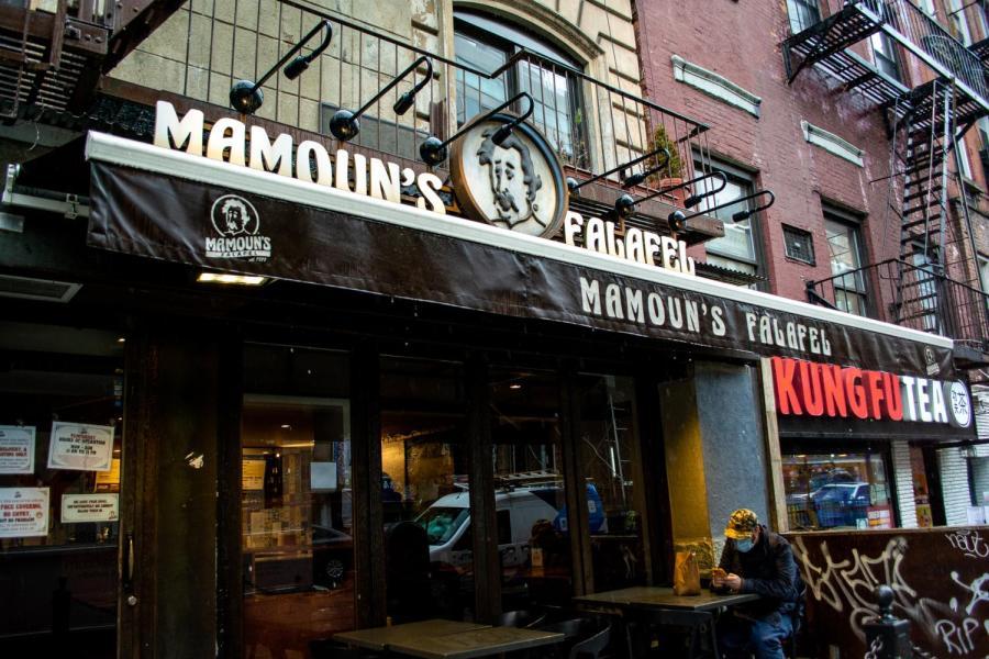 Mamoun's Falafel has locations in Greenwich Village and East Village. (Staff Photo by Manasa Gudavalli)