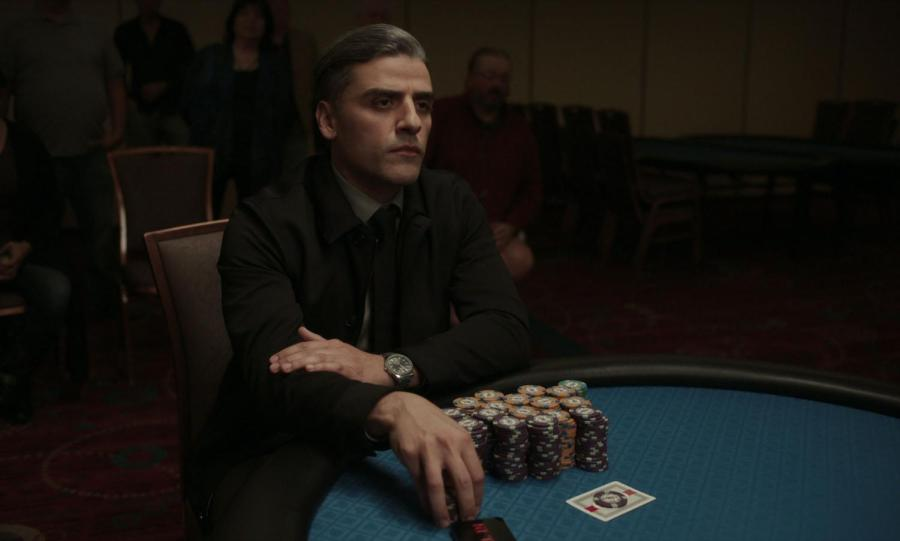 """Paul Schrader's newest film, """"The Card Counter,"""" follows blackjack player and former Abu Ghraib torturer William Tell (Oscar Isaac). Tell struggles to come to terms with his troubled past, even as he finds success in the present. (Image courtesy of Focus Features)"""