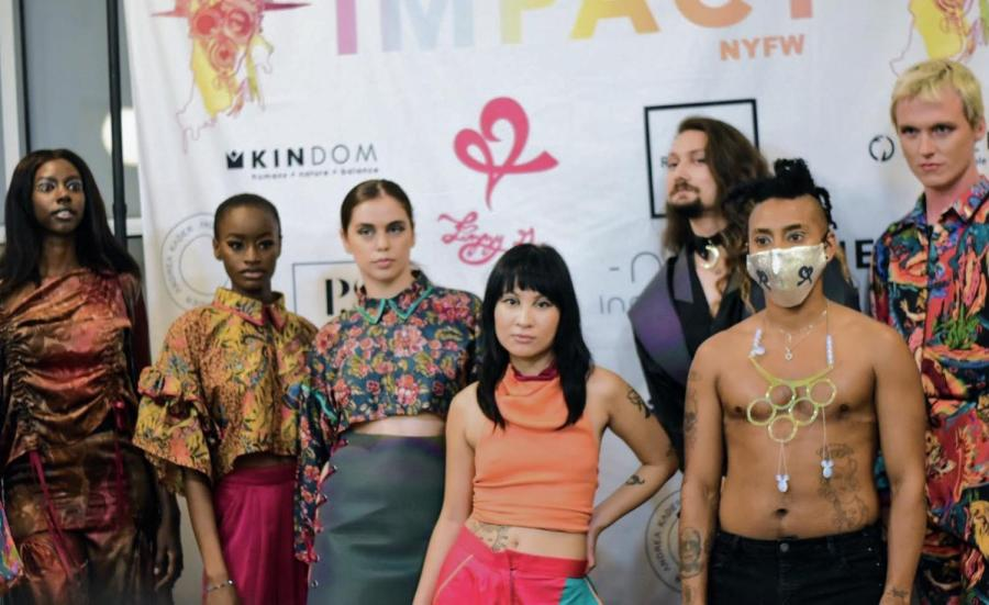 IMPACT, a nonprofit founded by Brooklyn-based designer Lizzy Gee, focuses on sustainable fashion. At New York Fashion Week, IMPACT gave a platform to designers and brands that create sustainably. (Photo by Camila Ceballos)