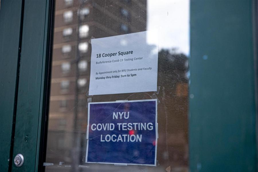 NYU has implemented randomized COVID-19 testing for students. Some students who evaded required tests, though, faced no repercussions. (Staff Photo by Ryan Walker)