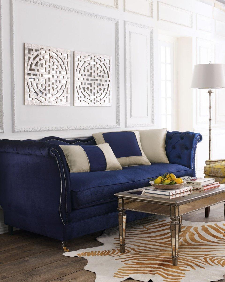 2021 Latest Blue Velvet Tufted Sofas   Sofa Ideas