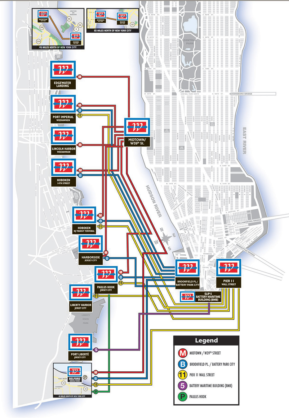 Port Authority Bus Terminal Map : authority, terminal, Ferry, Terminals