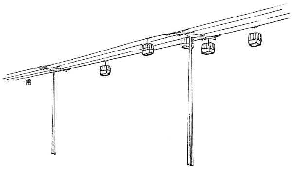 Skyride Line Drawing