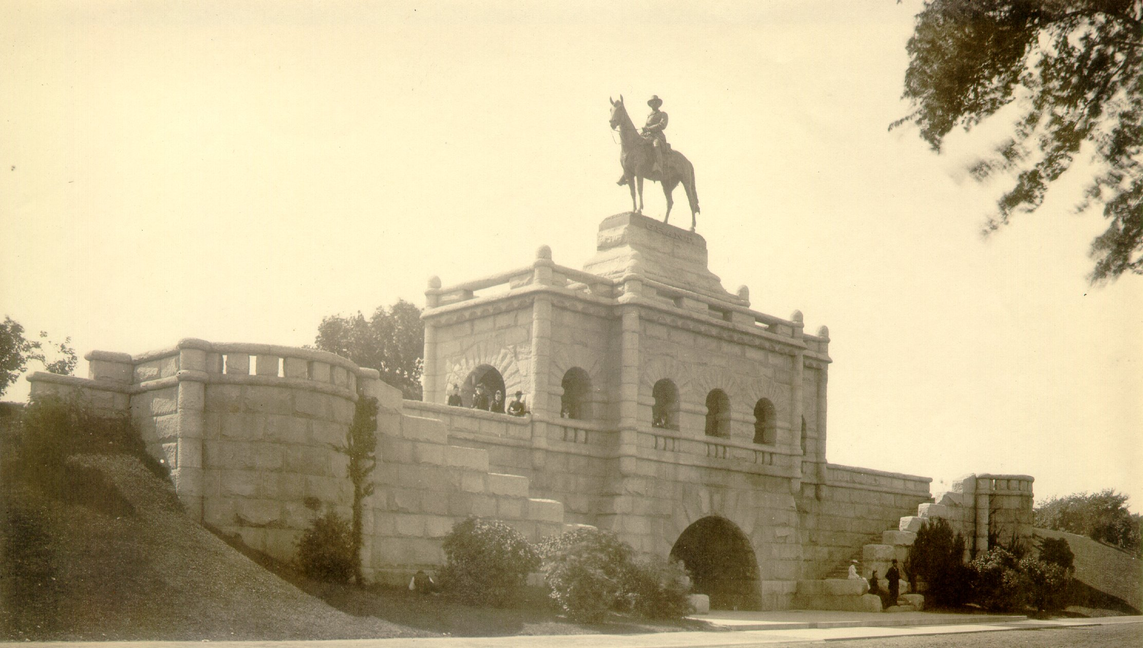 Large Stone Monument With Horse And Rider Statue At Top Monument Of Ulysses S Grant Variant