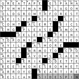 1003-09 New York Times Crossword Answers 3 Oct 09
