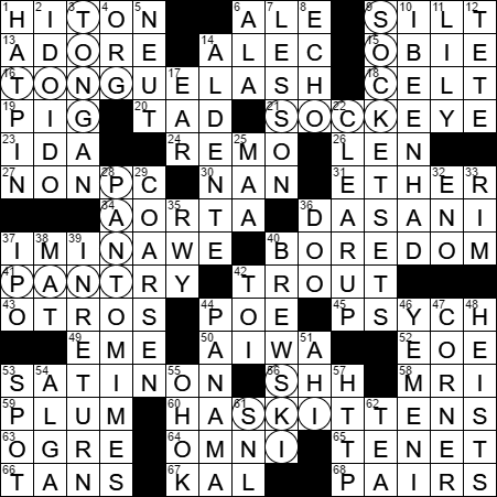 0523-17 New York Times Crossword Answers 23 May 17