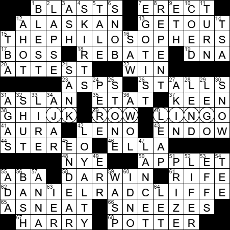 0626-17 New York Times Crossword Answers 26 Jun 17, Monday