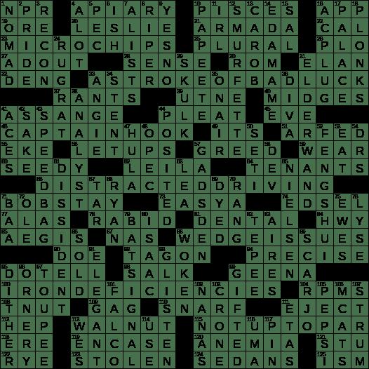 0419 20 Ny Times Crossword 19 Apr