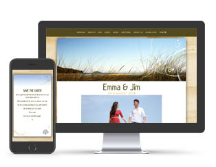 Paperless Wedding Website NZ Beach Theme