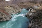 Roaring Meg hydro scheme on the Kawarau River, outside of Queenstown on the road up to Wanaka