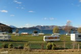 We saw this campground (not ours) on our drive back into Wanaka past Glendhu Bay.