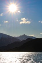 The sun was out in full force, and we could still see Mt Aspiring/Tititea from across Glendhu Bay.