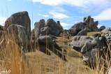 Wandering through the limestone boulders of Castle Hill