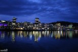 Wellington shines on the harbor at night--a delightful city!