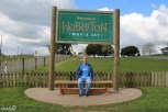 Our penultimate stop of our trip was the Hobbiton Movie Set near Matamata, New Zealand. Here's Philip by the sign, clearly not excited at all. We were all pretty excited.