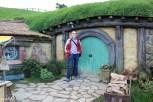 William found a green hobbit door of his own!