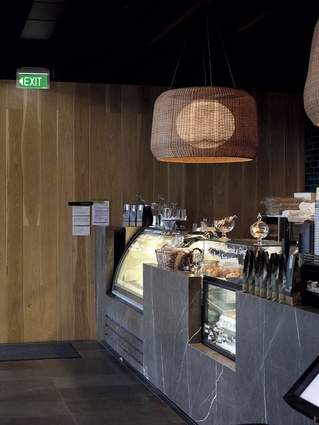 bay window seat kitchen table wall mounted cabinets st heliers cafe & bistro | architecture now