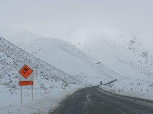 冬のニュージーランドの道路1