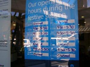 クイーンズタウン年末年始の銀行