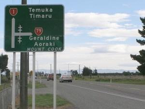クライストチャーチからテカポへのドライブルート