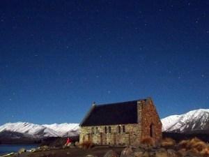 月夜の良き羊飼いの教会テカポ