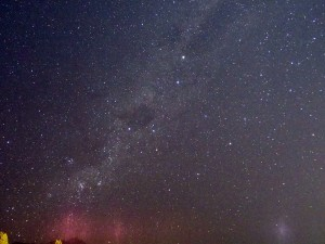 クイーンズタウンの町の中からの星空、南十字星